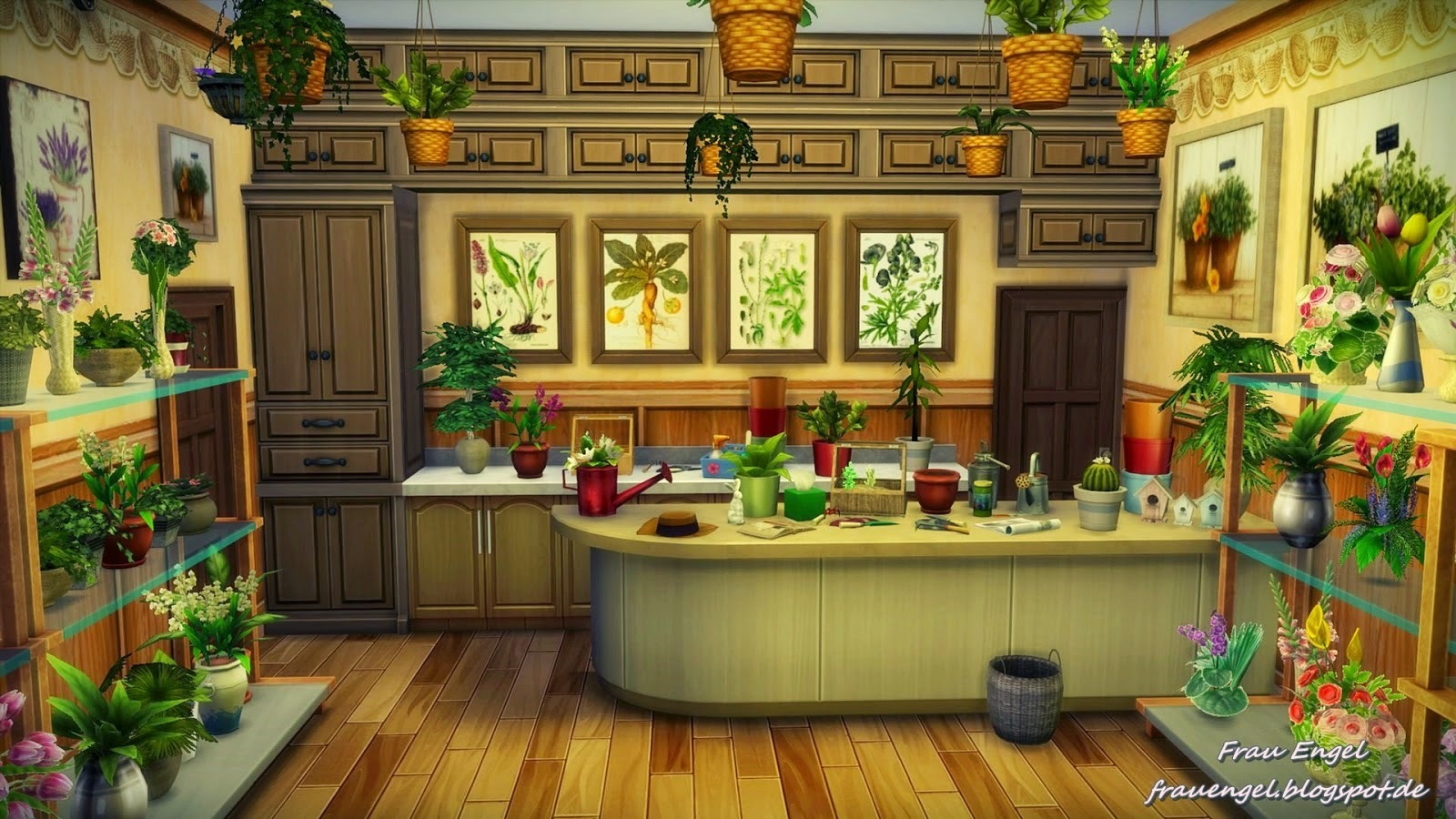 My Sims 4 Blog: Antique Store and Flower Shop by Frau Engel