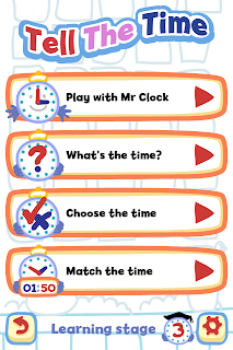 Tell the Time with Bubbimals iPad / iPhone App, Learning Modes