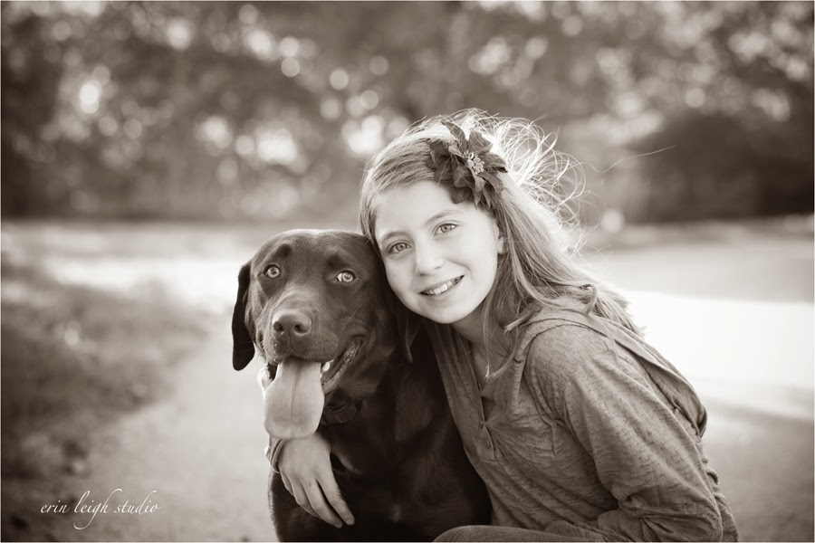 a girl and her dog photos