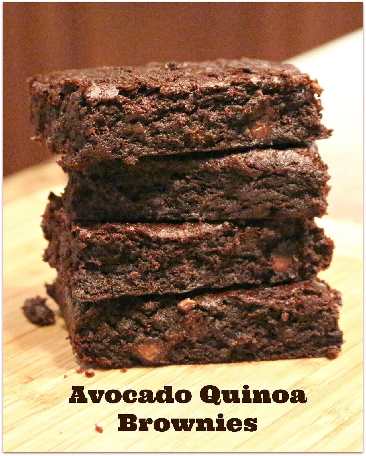 Jenn's Random Scraps: Avocado Quinoa Brownies