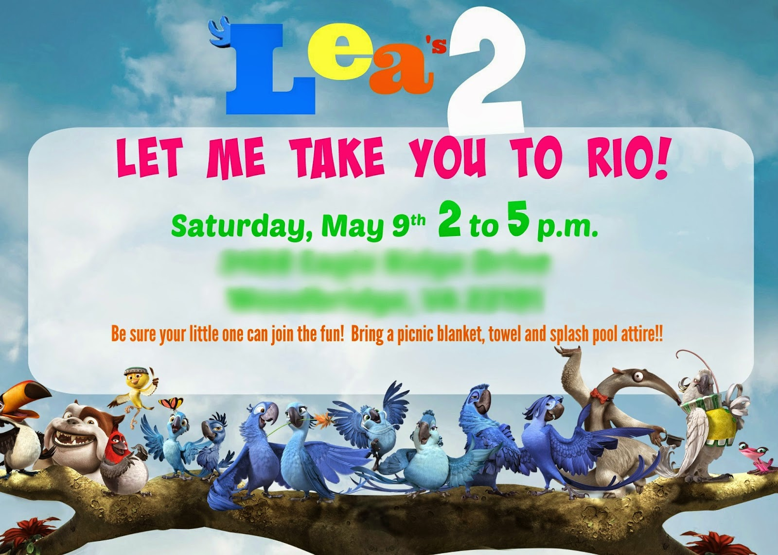lea's rio 2 party - the decor. | shipwrecked on fabulous island