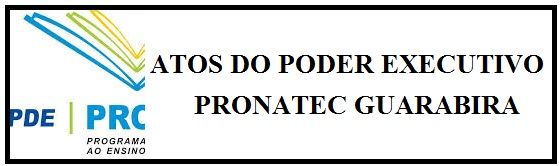ATOS DO PODER EXECUTIVO - PRONATEC IFPB GUARABIRA