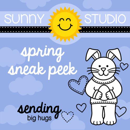 Sunny Studio Stamps Sending My Love Spring 2016 Release Sneak Peek