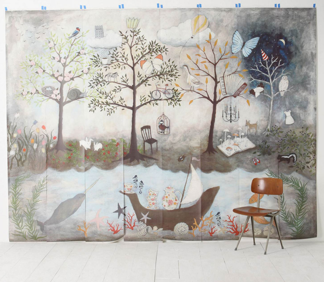 Because it 39 s awesome house guest josephine kimberling for Enchanted forest mural wallpaper