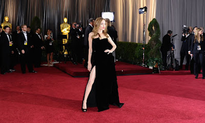 angelina jolie right leg exposed