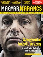 Bayer Zsolt, Magyar Narancs, békemenet, Orbán Viktor, illegális bevándorlás, migráció, nácizmus. Hitler-bajusz,
