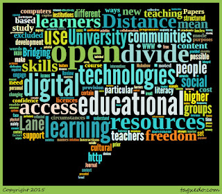 Word cloud of the article: The Impact of Openness on Bridging Educational Digital Divides