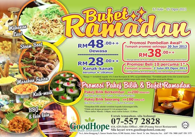 Pakej Berbuka Puasa / Buffet Ramadhan di Johor Bahru 2013