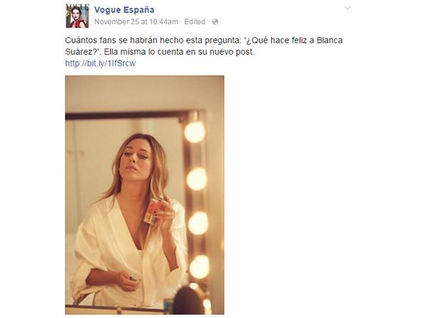 Blanca Suarez y su blog en Vogue España