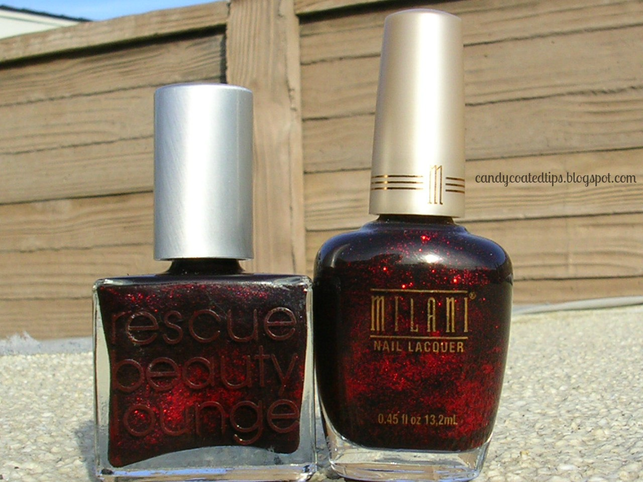 CANDY COATED TIPS: A quick comparison: Rescue Beauty Lounge and Milani.