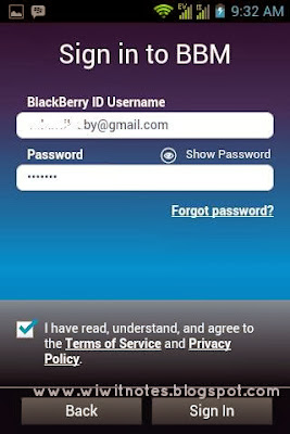 Sign In BBM Android