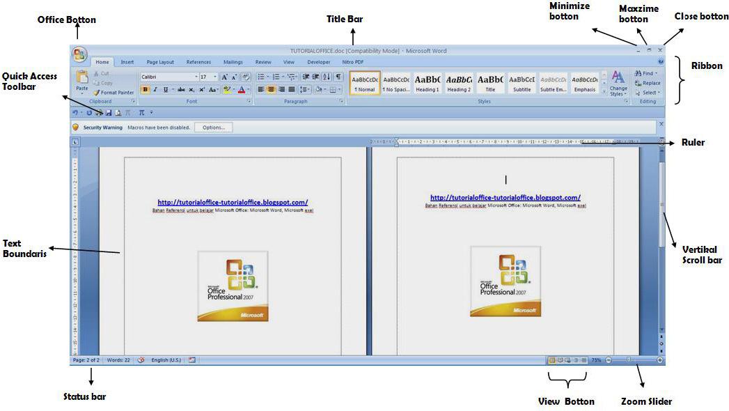 office menjelaskan kepada anda bagian bagian microsoft word 2007 ...