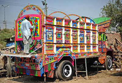 Pakistan, Society, Art, Truck, Unrest, NATO, Transport, Painter, News, Colorful, Decorating, Craft, Museum, Germany,