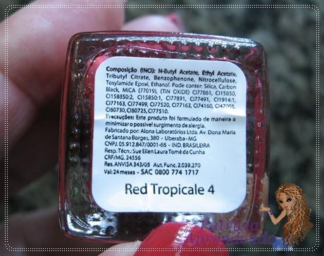 Esmalte Derma Nail Red Tropicale 4
