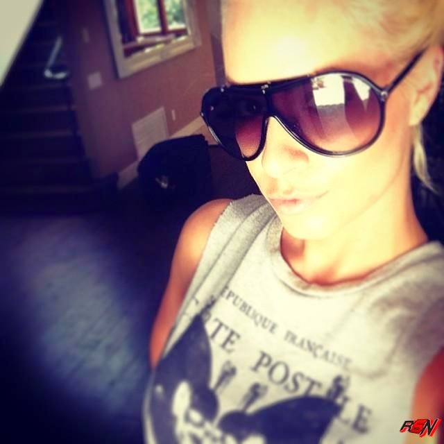 Maryse Wearing Her Big Glasses