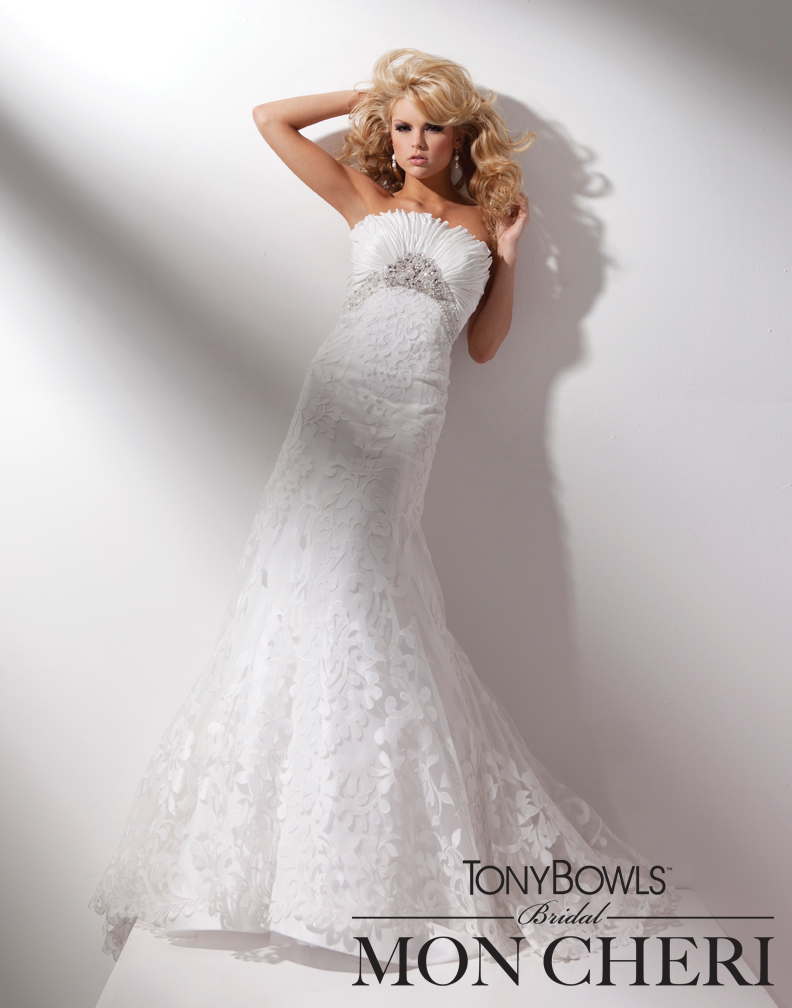 Women fashion club strapless taffeta slim a line gown for Slim white wedding dresses