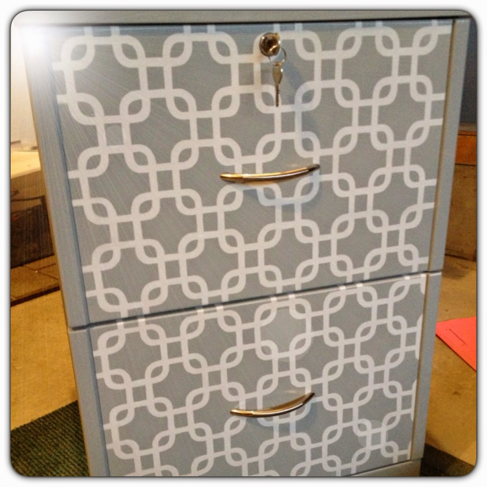 Spray paint your file cabinet