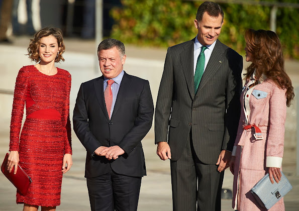 King Felipe and Queen Letizia of Spain Receive King Abdullah and Queen Rania of Jordan