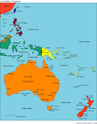 Australia and Oceania editable map, comes in both PowerPoint and Adobe .