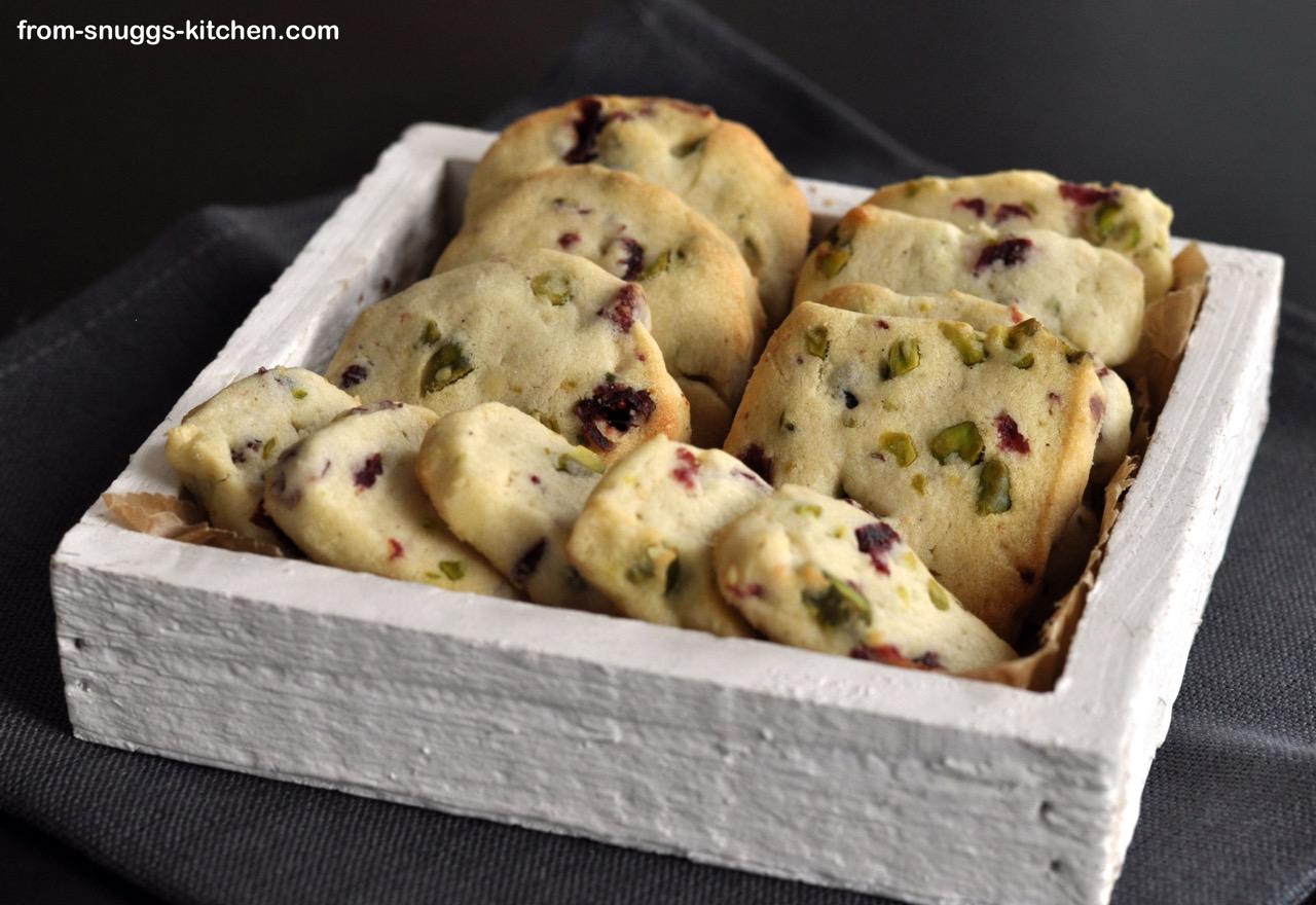 cranberry-pistachio sables