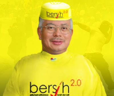 Datuk Najib pakai baju Bersih 2.0