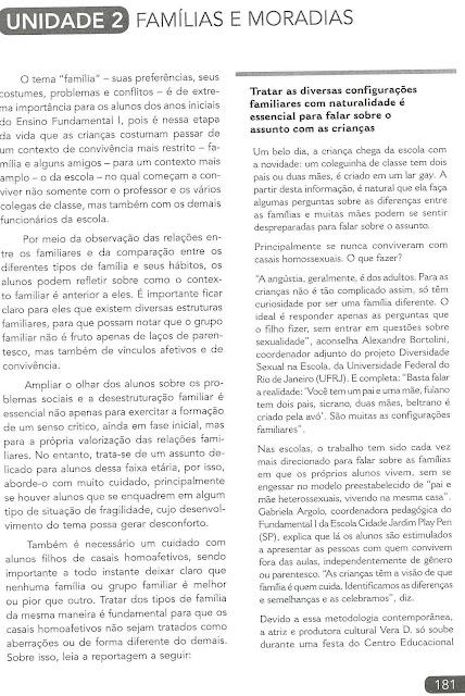Livros didáticos do MEC para 2016 trazem ideologia de gênero, alerta professor