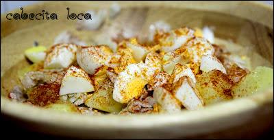 Ensalada de merluza, huevo y patata