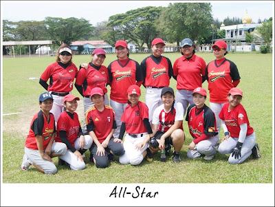 Pasukan Sarawak All-Star semasa Pasukan Betong semasa Pasukan Kuching semasa Kejohanan Sofbol Pemilihan SUKMA Sarawak 2013 di Miri