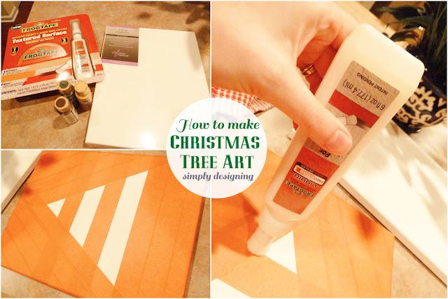 How to Make Christmas Tree Art {Kids Craft} | #texturedsurface #christmas #christmascraft #kidscraft