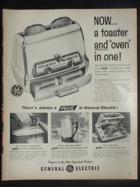 Vintage Ge 25t83 Toaster The History Girl