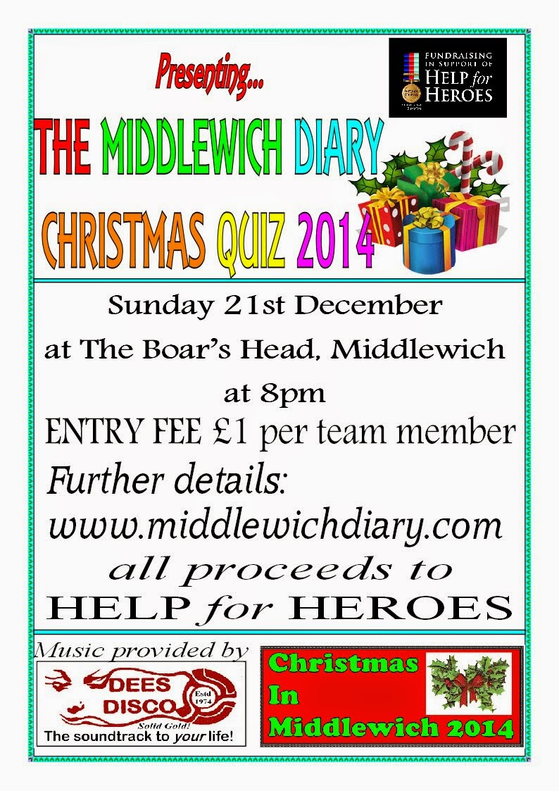 TOMORROW NIGHT!!!!!!!   THE MIDDLEWICH DIARY CHRISTMAS QUIZ!