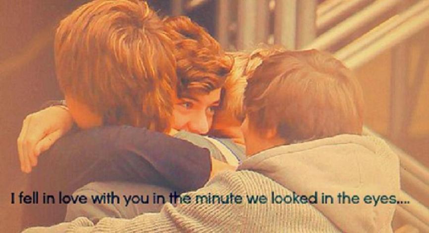 Zakochałem się w Tobie w chwili, kiedy spojrzeliśmy sobie w oczy…