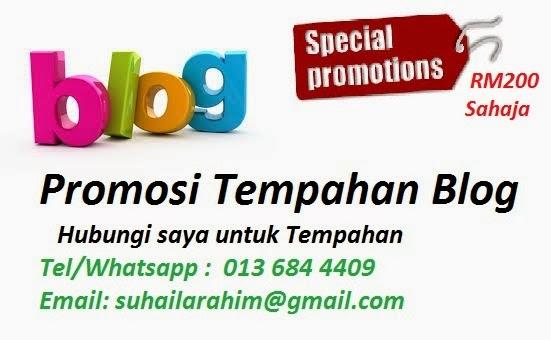 Promosi Tempahan Blog