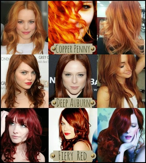 Different Red Hair Color