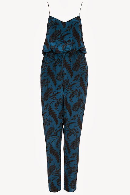 silk print jumpsuit