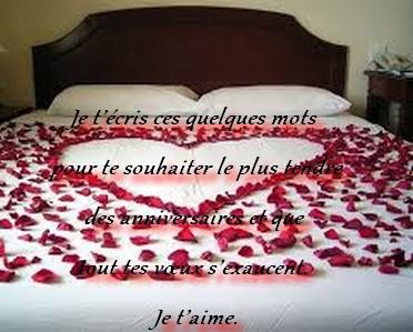 Message Danniversaire Pour Mon Amour Messages Et Sms Damour