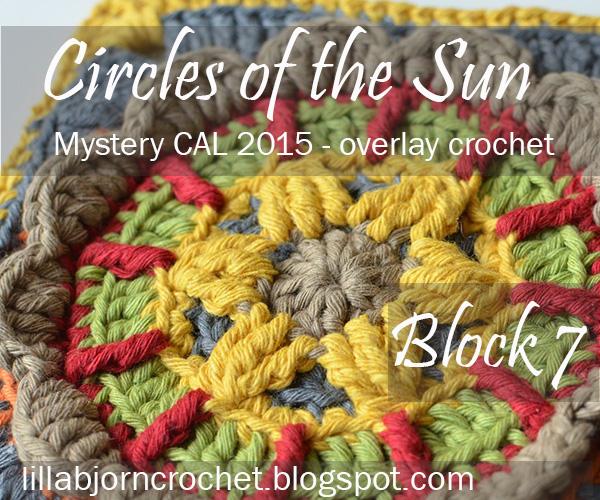Block 7 from Circles of the Sun Mystery CAL (overlay crochet). Designed by LillaBjornCrochet