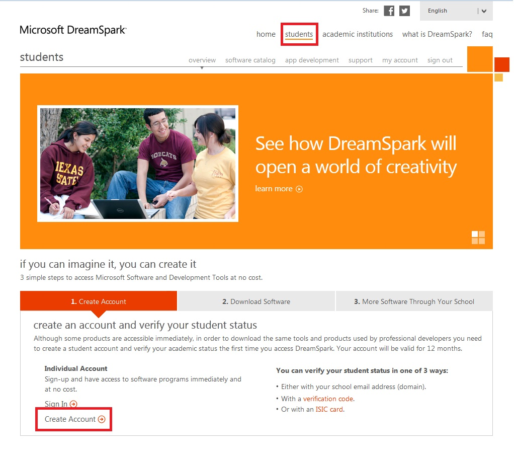 how to download visual studio students