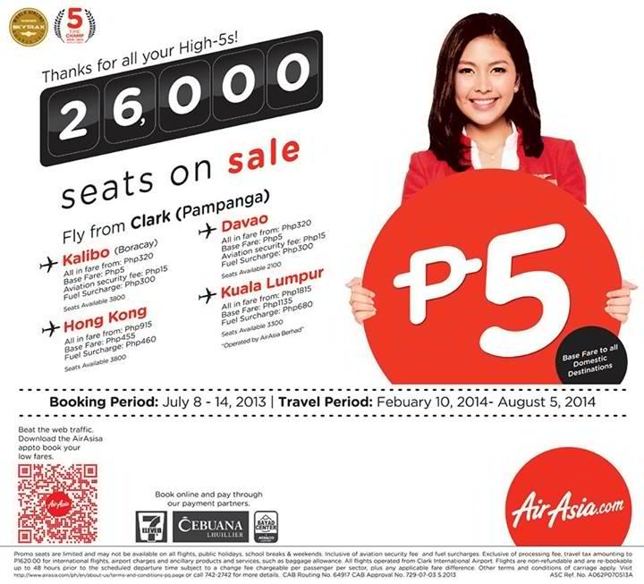 AirAsia P5 Seat Sale
