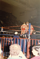 The Rougeau Brothers prepare to battle The Hart Foundation at MLG, 12/28/1986.
