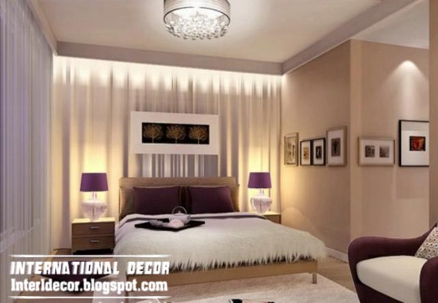 Contemporary bedroom designs ideas with false ceiling and for Latest bedroom designs