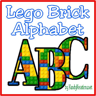 Make your Lego party invitations or scrap book memories extra fun with this Lego Brick Alphabet.