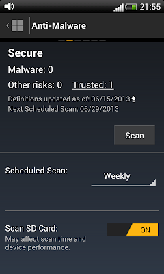 Norton Mobile Security: Scanning for Malwares