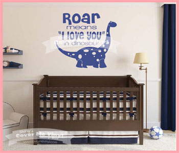 Roar Dinosaur Decal
