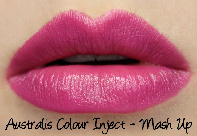 Australis Colour Inject Mineral Lipsticks - Mash Up Swatches & Review