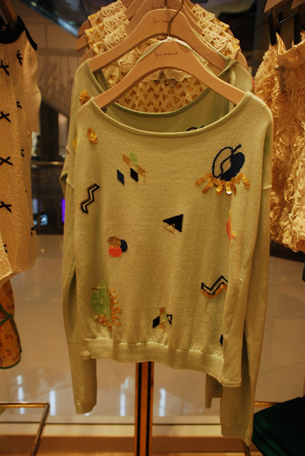 Mint knit  sweater at Lynn Around in Bangkok