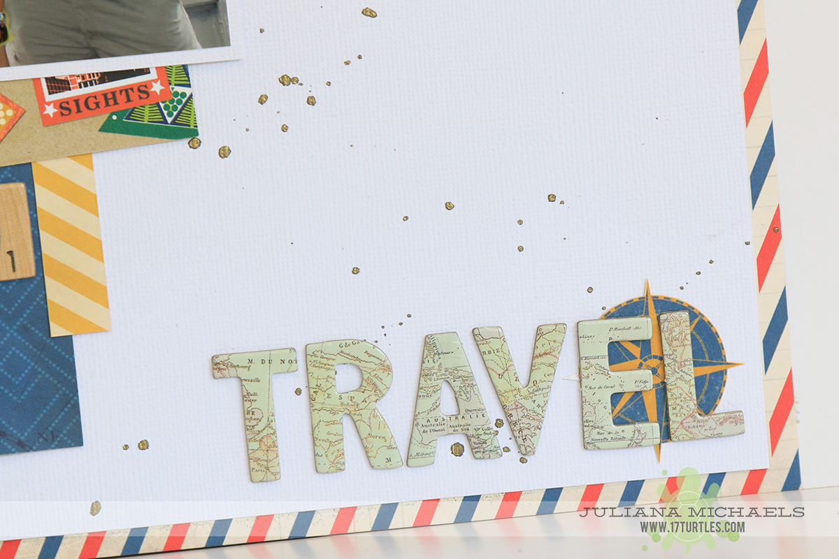 Travel Scrapbook Page by Juliana Michaels featuring BoBunny Souvenir