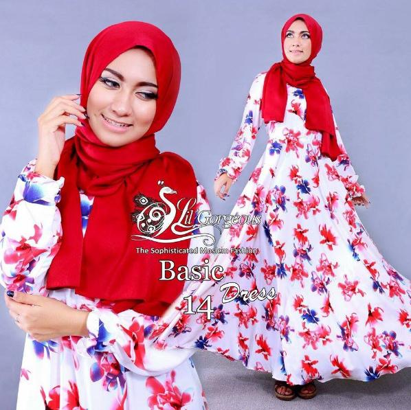 Koleksi Baju Muslim Syari Modern Motif Terbaru 2016