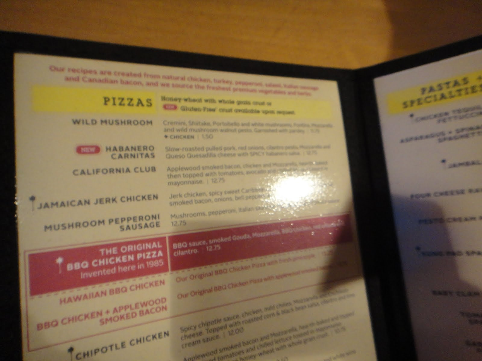 i ate here california pizza kitchen in johnna s kitchen
