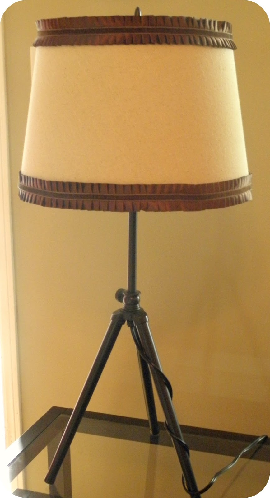 Where beauty meets function lamp shade redo for Redoing lamp shades